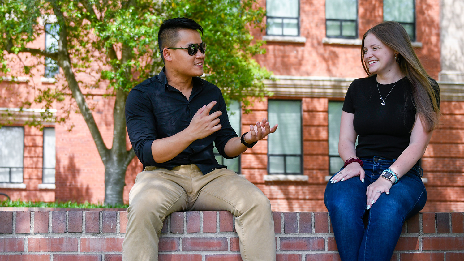 Students talk on NCState's Court of North Carolina